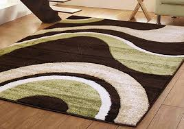 Green Modern Rug Green And Brown Rug Cievi Home