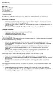 College Tutor Resume 100 Resume For Tutors Examples 13 Best Visual Cv Images On