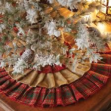 plaid tree skirt whitton ruffled christmas tree skirt 21 d burlap