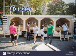 Sleeping Pods The Casper Nap Tour Promotional Trailer Equipped With Sleeping