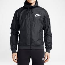 nike windbreaker nike 544119 010 windrunner men u0027s jacket black white at shoe palace