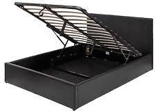 faux leather built in under storage bed frames u0026 divan bases ebay