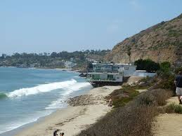 panoramio photo of malibu shoreline and beachfront homes