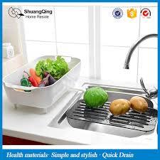 ustensile de cuisine en plastique en plastique vidange rack cuisine rack évier fruits légumes plat