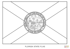 florida state flag coloring page florida flag coloring page on