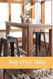 pub style dining room tables best 25 pub height table ideas on pinterest diy pub style table