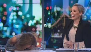 Slamming Head On Desk Peter Helliar Baffled By Carrie Bickmore U0027s Laughing Fit Daily