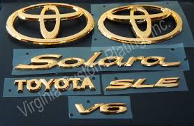 toyota lexus logo virginia custom plating inc gold emblems gold emblem kit