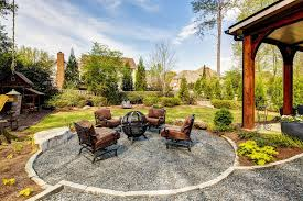 Gravel Fire Pit Area - contemporary patio with fence by karen cannon zillow digs zillow