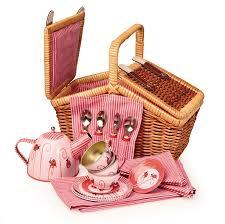 kids picnic basket and floyd imports wicker basket tin tea set ladybug