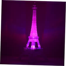 Eiffel Tower Decoration Romantic Eiffel Tower Color Changing Led Night Light Bedroom Home