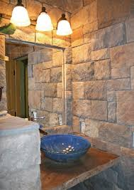 bathroom natural stone wall bathroom design idea with awesome