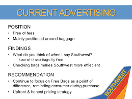 southwest baggage fees southwest airlines brand exploratory strategy