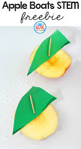 apple boats stem activity a dab of glue will do