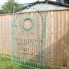 vintage fibreglass strand trellis panels russell woodard green