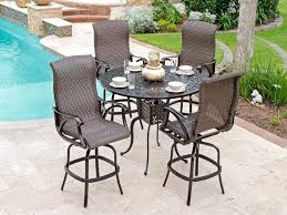 Patio Bar Height Table And Chairs Patio Bar Tables Outdoor Dining Set Balcony Bar Table Stools Patio