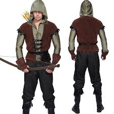 mens robin hood prince of thieves green arrow cosplay fancy dress