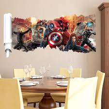 avengers wall stickers boys room wall decals