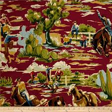 Cowboy Home Decor Braemore Ride Em Cowboy Chili Discount Designer Fabric Fabric Com