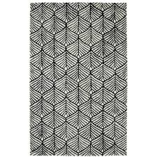 Dynamic Rugs Dynamic Rugs Palace Black White 5 Ft X 8 Ft Indoor Area Rug