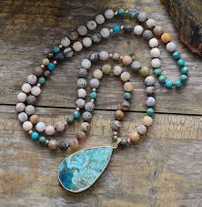 turquoise gem necklace images Turquoise stone pendant necklace colorful handmade moonshine jpg