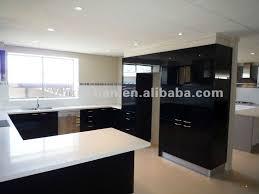 cuisine laqué noir meuble cuisine laqu plan de travail blanc ikea noir et laque