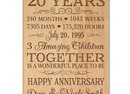 20 year anniversary gifts for 18 gifts for 20th wedding anniversary 20th wedding anniversary gift