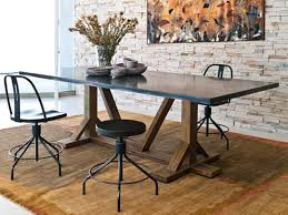 steel top dining table diego dining table by environment furniture home pinterest