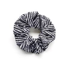 hair scrunchy dotty scrunchy hair scrunchy or scrunchie black and white dots