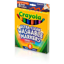 crayola washable markers broad point bold colors 8 set