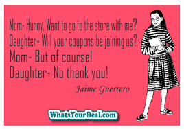 Mother Daughter Memes - mother daugher convo couponing meme by jaime guerrero grocery