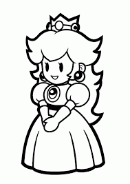 baby princess peach coloring pages coloring