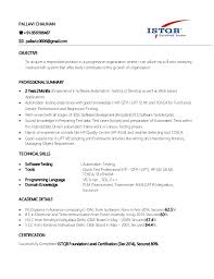 Sample Etl Testing Resume by Manual Testing Resume Template Examples