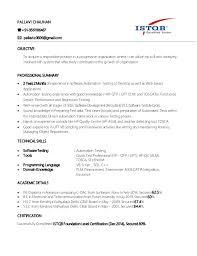 Manual Testing Resume Samples by Manual Testing Resume Template Examples
