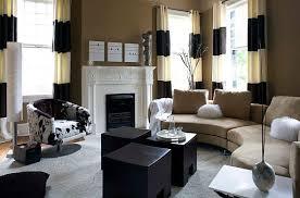 Black White Stripe Curtain Black And White Horizontal Striped Curtains Home Decor