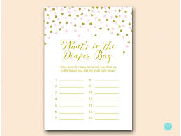 what s in the bag baby shower pink and gold baby shower package magical printable