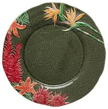 tropical flowers charger plate tropical charger plates by