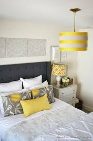 best 10 gray yellow bedrooms ideas on pinterest yellow gray danielle oakey interiors diy tufted headboard with wings and nailhead trim