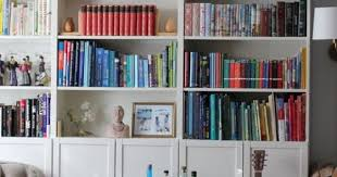 short bookcase with doors billy bookcases with olsbo doors tall billy stacked on top of short