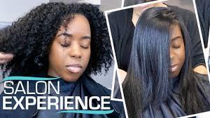 savannah black hair salons silk press on my natural hair for the first time salon visit
