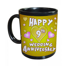 9th wedding anniversary gift 9th wedding anniversary gift printed coffee mug