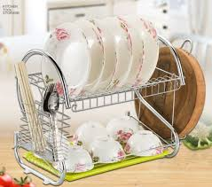 plate organizer for cabinet china kitchen stainless steel cabinet plate dish draining storage