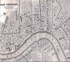 Map Of New Orleans Usa by