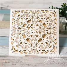 wholesale wedding invitations pearl white laser cut wholesale wedding invitation wpl0019