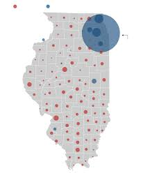 Illinois On A Map by Illinois Presidential Vote Results By County Chicago Tribune