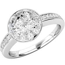 art deco style ring single stone engagement ring with shoulders