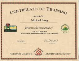 Wildfire Training by Mike Long Cf Ms