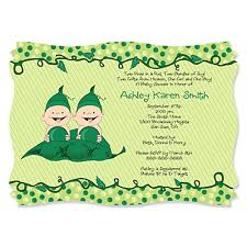 two peas in a pod baby shower two peas in a pod personalized baby shower invitations
