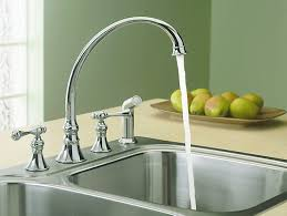 kohler revival kitchen faucet revival kitchen sink faucet with traditional handles k 16109 4a