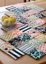zig zag table runner zig zag table runner w 5inch squares pinteres